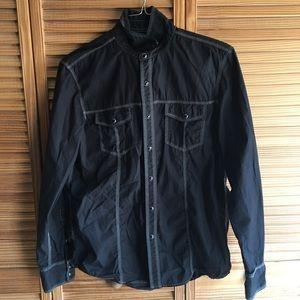 INC International Concepts Black Button Jacket